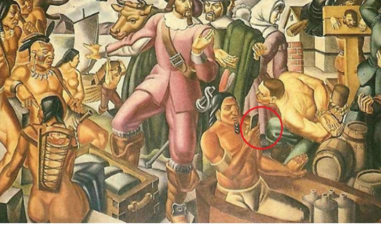 На кількох стародавніх картинах виявили людей зі смартфонами