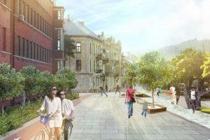 Як можуть змінити громадський простір біля Палацу Хоткевича. Візуалізація