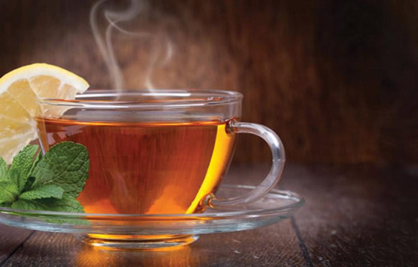 чай гарячий