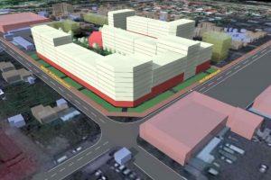 Біля Південного ринку планують звести квартал із дитсадком та багаторівневим паркінгом. 3Д-проект забудови