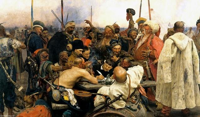 Запорожці пишуть лист турецькому султану