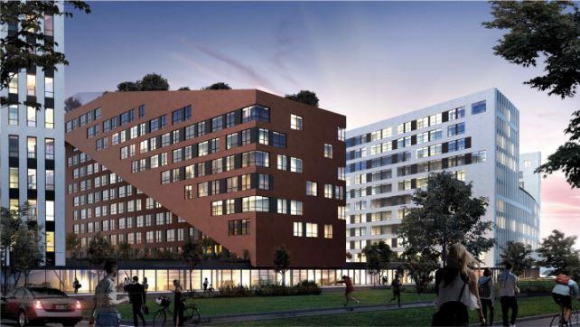На території колишнього заводу у Львові планують побудувати житловий комплекс. Візуалізація