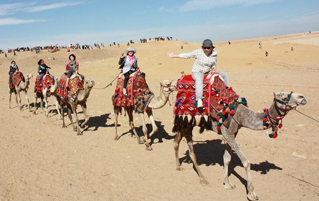 Туристи в Єгипті