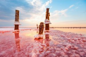 Цілюще рожеве українське озеро, яке не має аналогів у світі