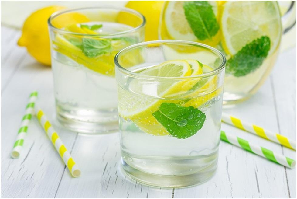 вода з м'ятою та лимоном мята