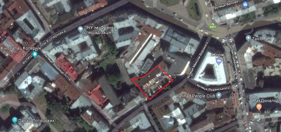 Земельна ділянка, де заплановано зводити готель з підземним паркінгом