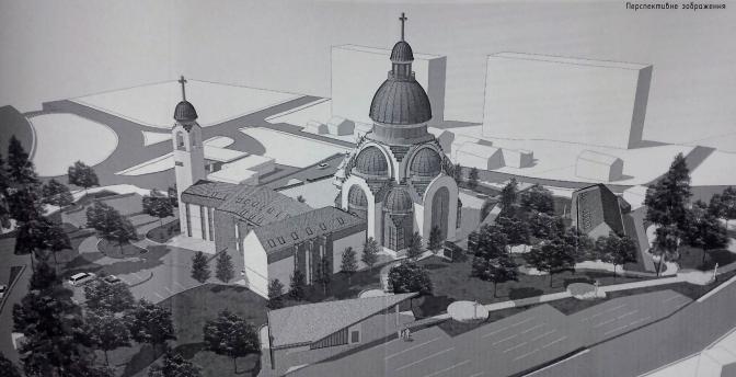 На перехресті Чорновола-Варшавська з'явиться церква УГКЦ. Візуалізація