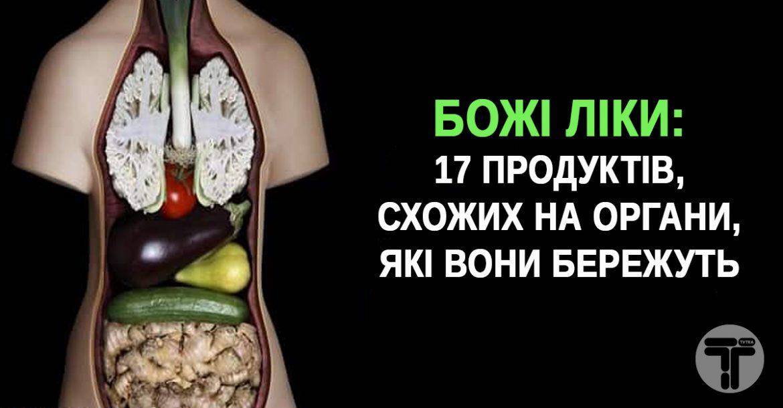 Божі ліки: 17 продуктів, схожих на органи, які вони бережуть