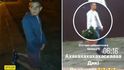 У Львові радикали змусили вибачитися на колінах вандала, який спаплюжив пам'ятник українським воїнам