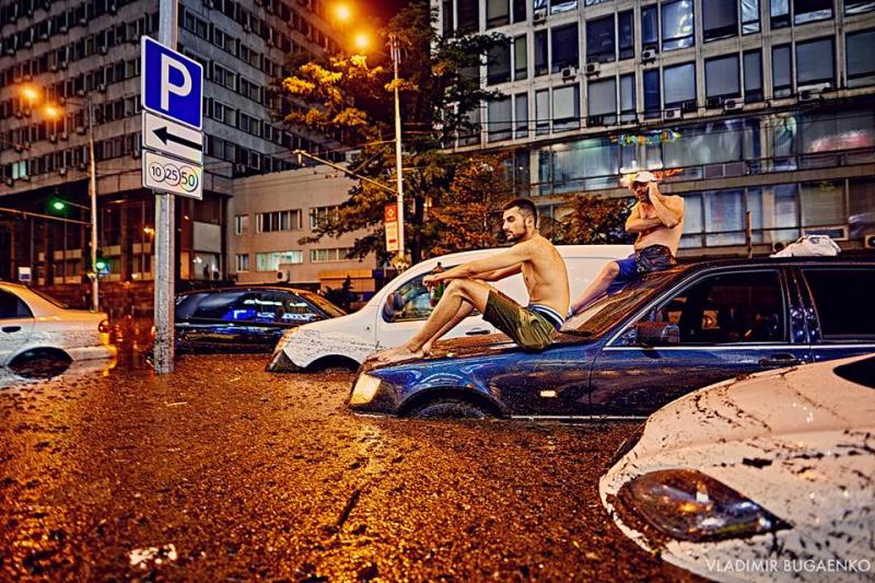 """""""Україна - морська держава"""": з'явилися яскраві кадри нічного потопу в Києві (фото, відео)"""