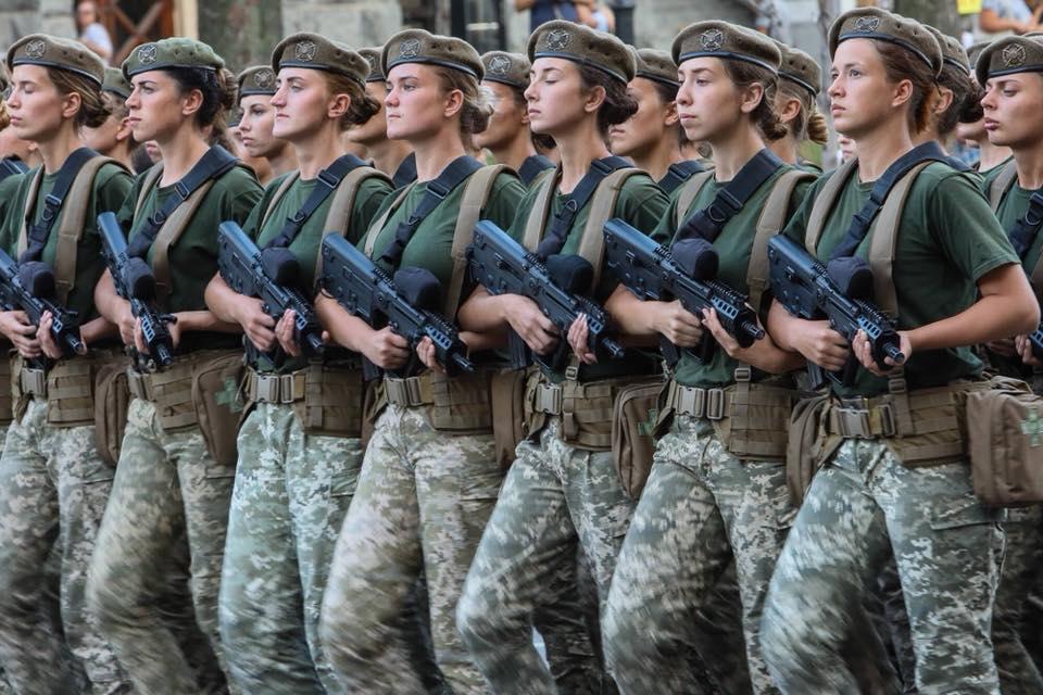 жінки армія оос ато донбас парад