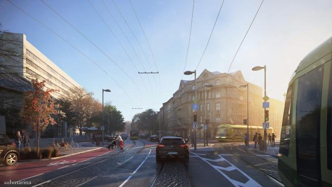 Як зміниться вулиця Бандери після реконструкції. Оновлена візуалізація