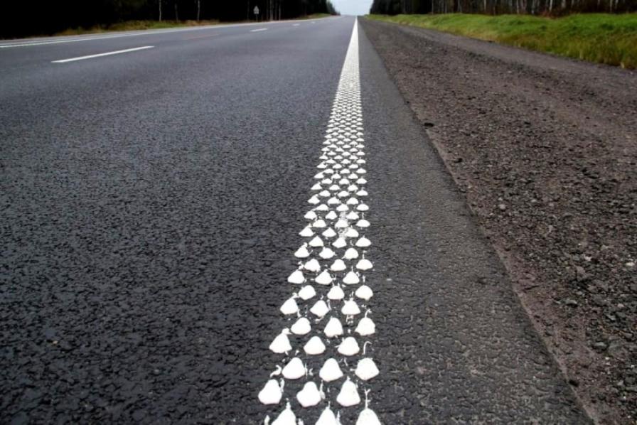 дорожна розмітка дороги шумова дорога