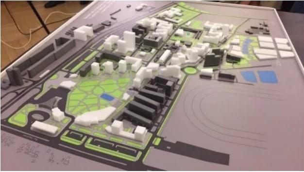 Макет нового будівництва на території біля автовокзалу