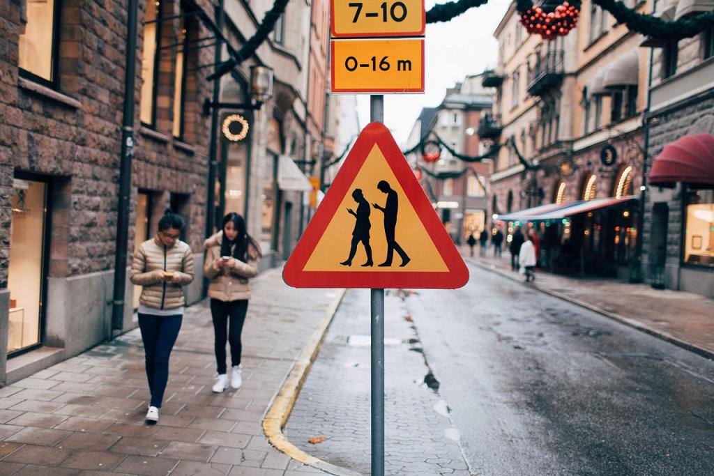 пішохід пішоходи з телефонами заборона