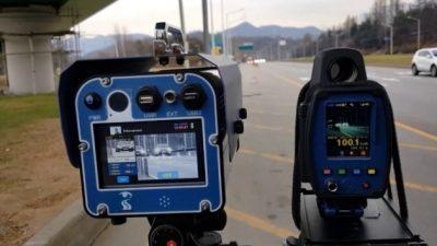 Львівські патрульні влаштували на аварійній ділянці засідку з TruCam на порушників швидкості  (відео)
