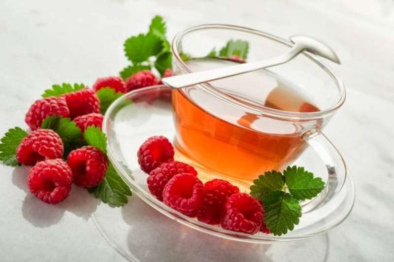 чай малина мята з малиною і мятою Малиново-м'ятна солодкість
