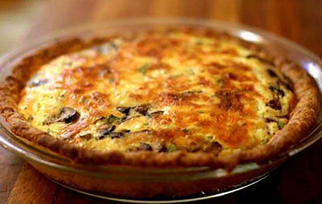 Грибний пиріг з опеньками і сиром