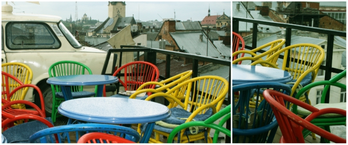 Тераса на даху ресторану «Дім легенд»
