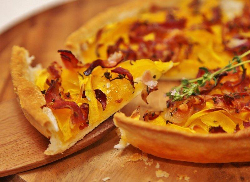 Солоний пиріг із гарбузом і сиром