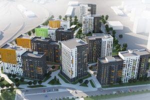 На місці молокозаводу у Львові погодили будівництво житлового кварталу. Візуалізація