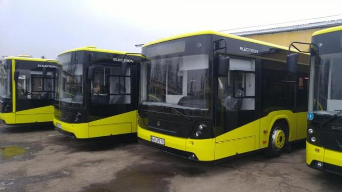 Львівське АТП-1 отримало перші 5 автобусів «Електрон». Фото