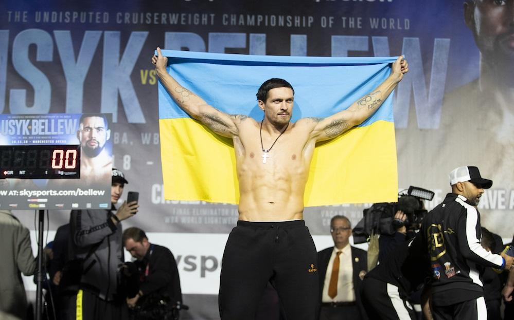 Усик з прапором України викликав фурор в Манчестері