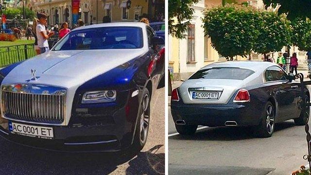 Праворуч фото Rolls-Royce, зроблене у Монако, а ліворуч те саме авто їде по вулицях Стрия (фото Тараса Середича)