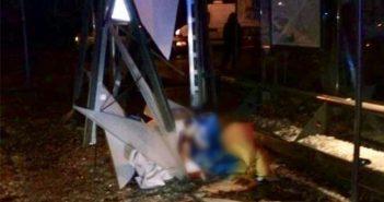 Внаслідок наїзду автомобіля на трамвайну зупинку у Львові загинула 25-річна дівчина