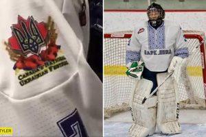 """""""Українська ніч"""": канадські хокеїсти вийшли на лід у вишиванках (фото, відео)"""