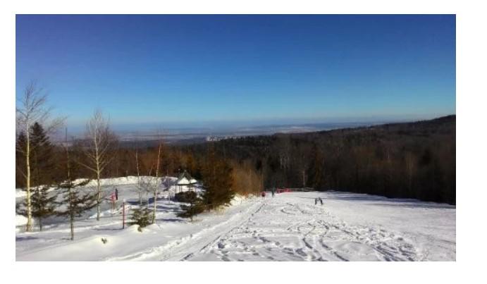 Гірськолижний спуск із гори Цюхів у селі Орів (фото з сайту бази «Карпатські полонини»)