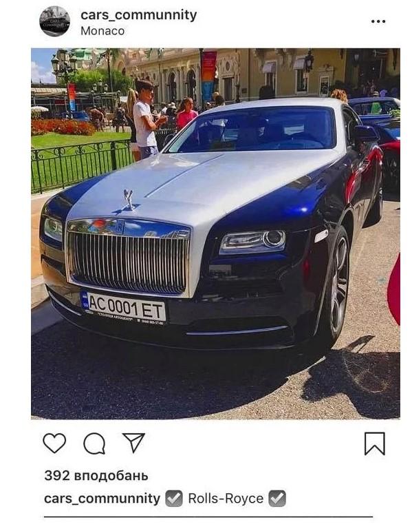 Rolls-Royce Wraith 74-річної свекрухи Олесі Заброварної у Монако