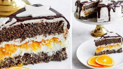 Маковий торт з апельсинами. Справжній зимовий смаколик!