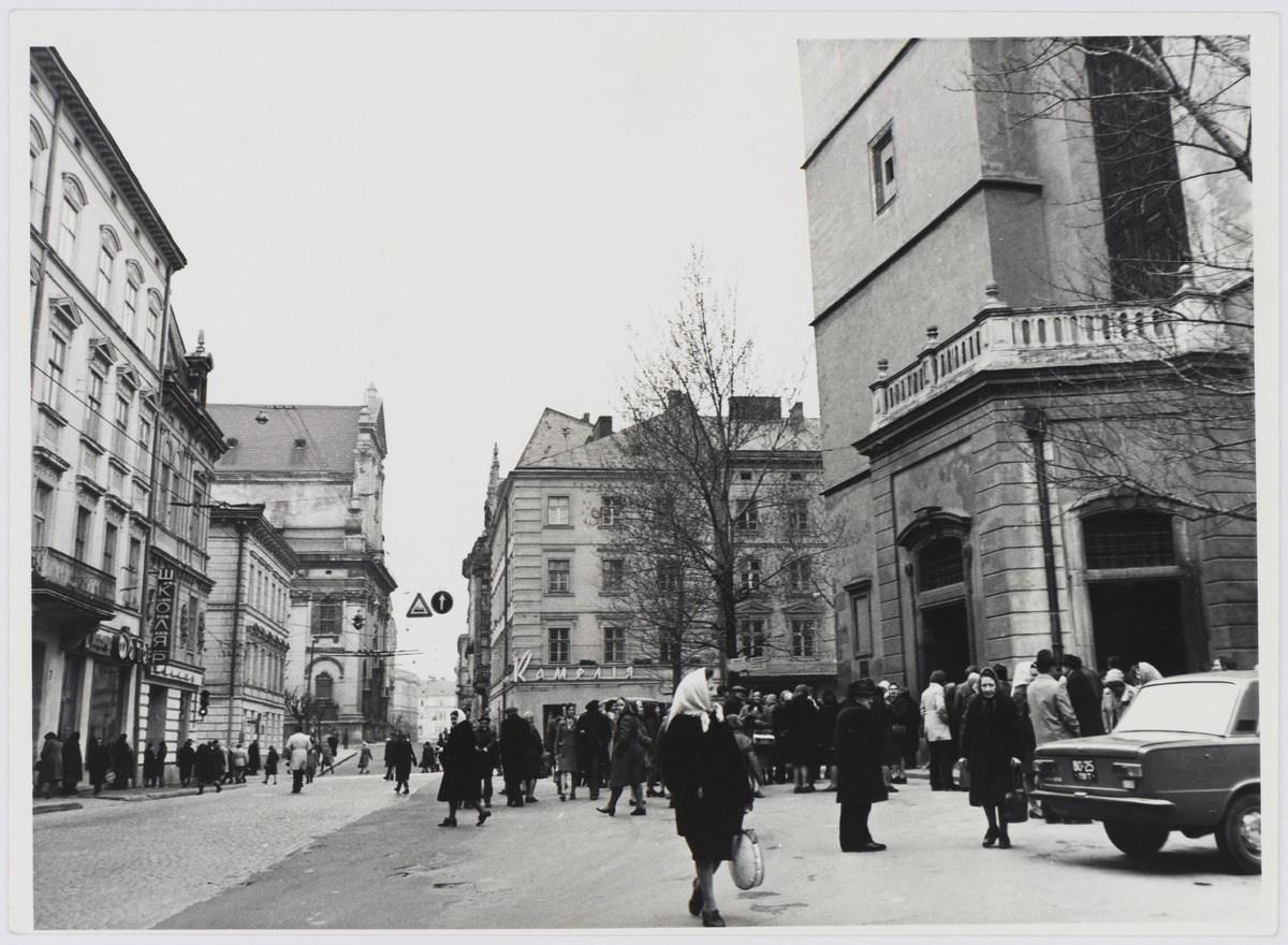 Львів, вулиця Театральна, фото 1976 року