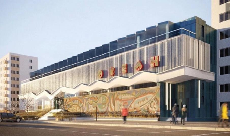 На Володимира Великого реконструюють радянську будівлю магазину «Океан». Візуалізація