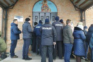 На Волині поліція опечатала храм у селі, де громада захотіла перейти до ПЦУ