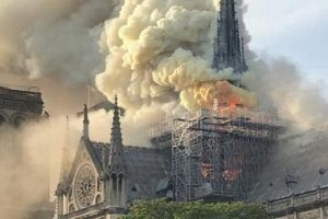 Пожежу в Нотр-Дамі загасили: стіни й вівтар вціліли – буде відбудова