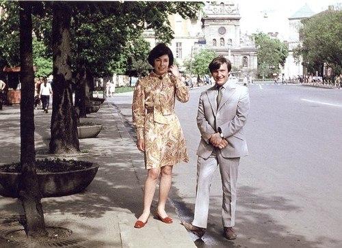 Володимир Івасюк та Лідія Лемик у Львові 1970-і роки.