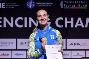 Українська шаблістка Ольга Харлан стала восьмикратною чемпіонкою Європи з фехтування