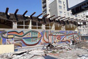 Відновлення мозаїки «Море і риби» у Львові можуть завершити ще цього року