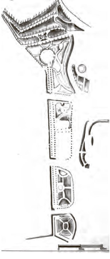 Губернаторські вали. План К. Бауера, 1863 р.