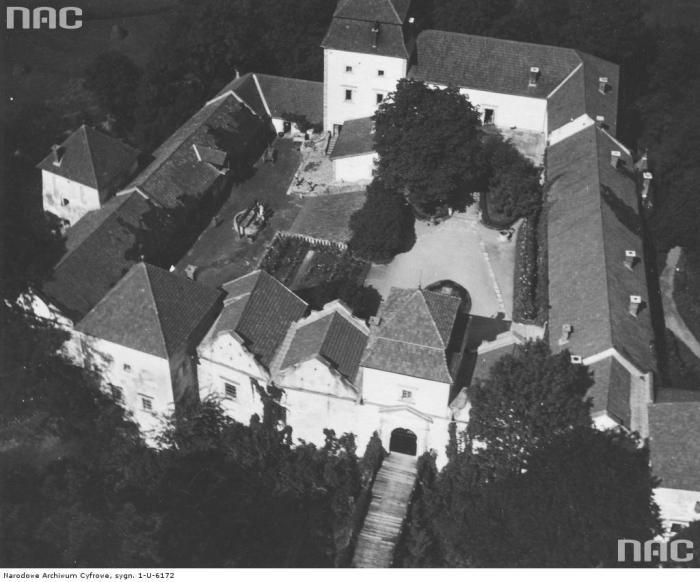 Свіржський замок. Вид згори. Фото 1910-1934 рр.