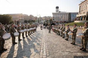 В Києві пройшла репетиція урочистостей до Дня Незалежності. ВІДЕО, ФОТО