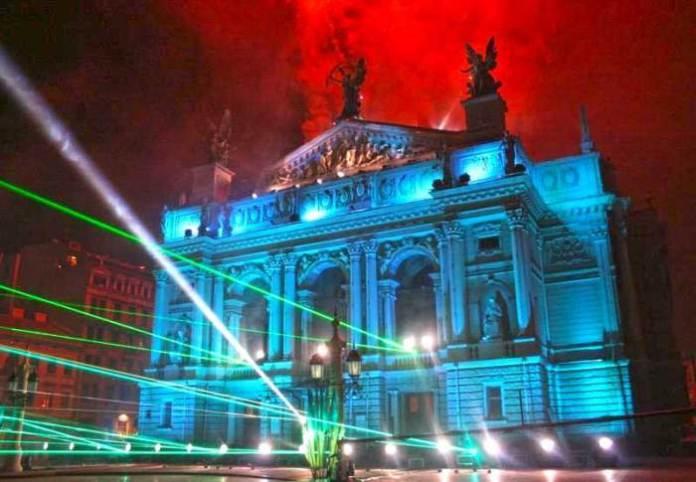 Світлове шоу 30 вересня 2006-го року до 750-річчя Львова