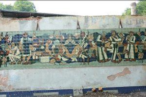 На будівлі колишнього заводу «Укрвино» знайшли панно, що визнають цінною пам'яткою
