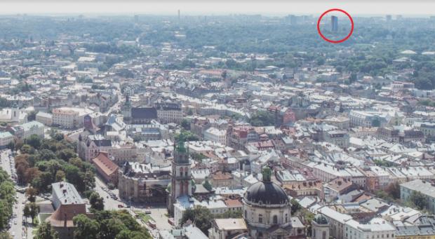Як висотний готель може змінити панораму міста . Візуалізація