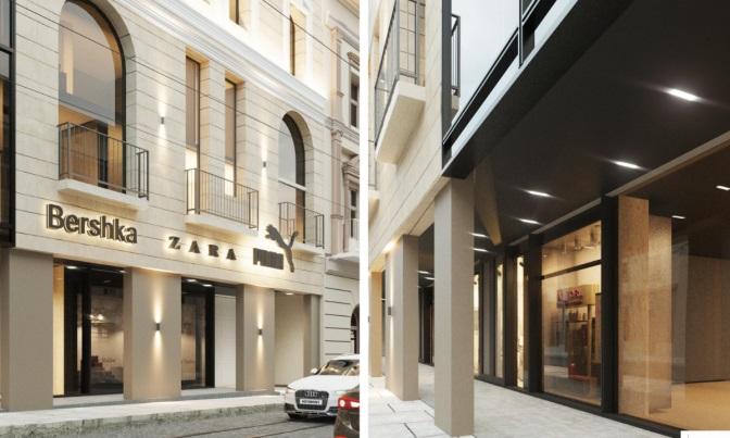 Як виглядатиме 22-метровий готель на початку вулиці Дорошенка у Львові. Візуалізація