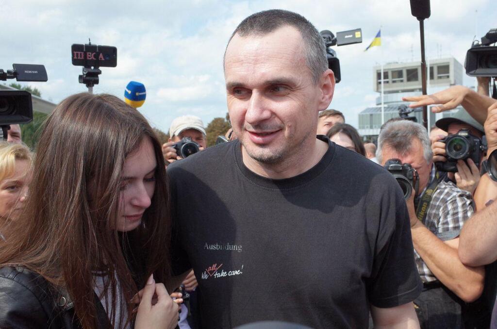 Олег Сенцов в Борисполі