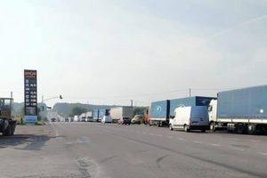 Поблизу Львова протестують водії вантажівок