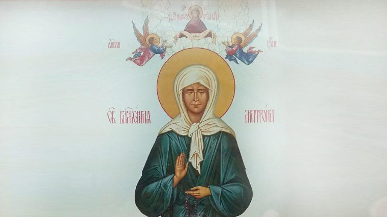 22 листопадавіруючі вшановують пам'ять преподобної Матрони